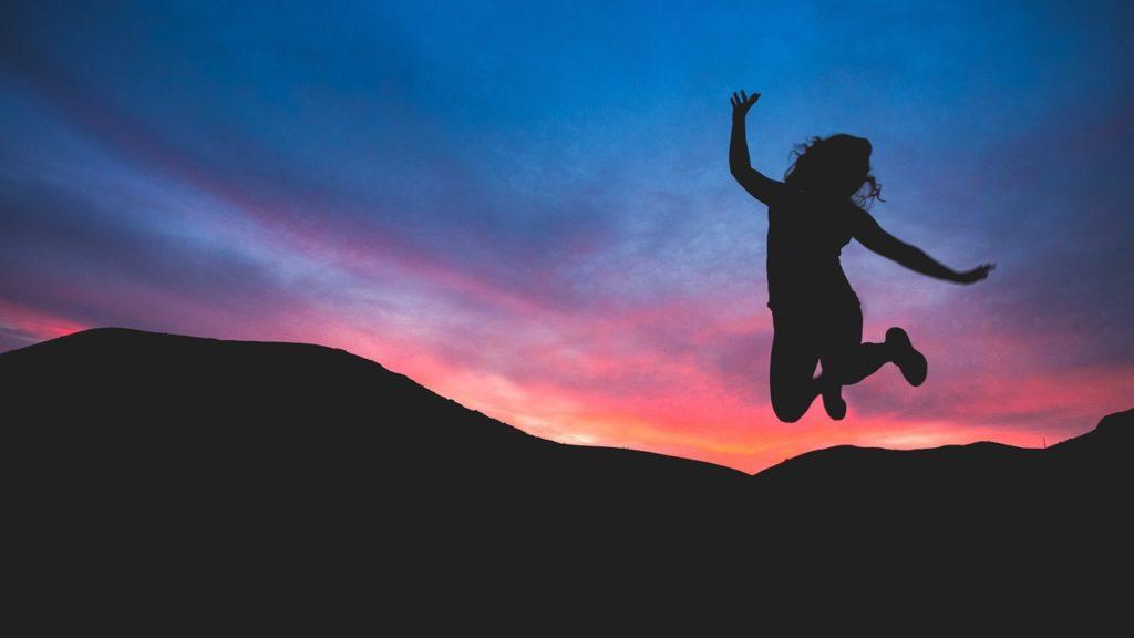 日没でジャンプ